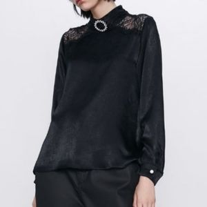 Zara Satin Effect Blouse